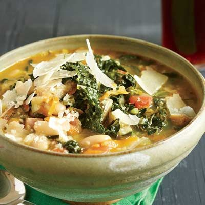 Hearty fall soup--quick RIbollita--find most of the ingredients at your local farmer's market