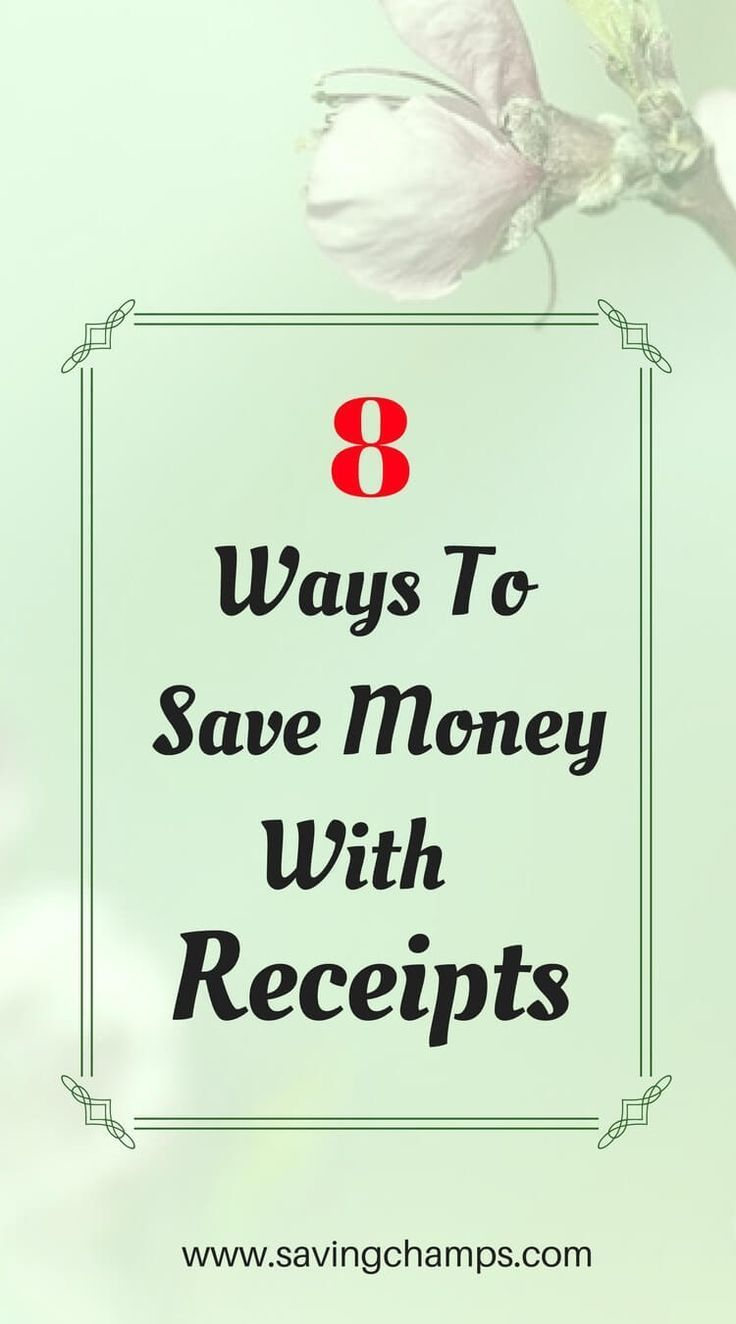 Money Receipts Save Your Receipts 8 Ways Receipts Can Help You Save Money .