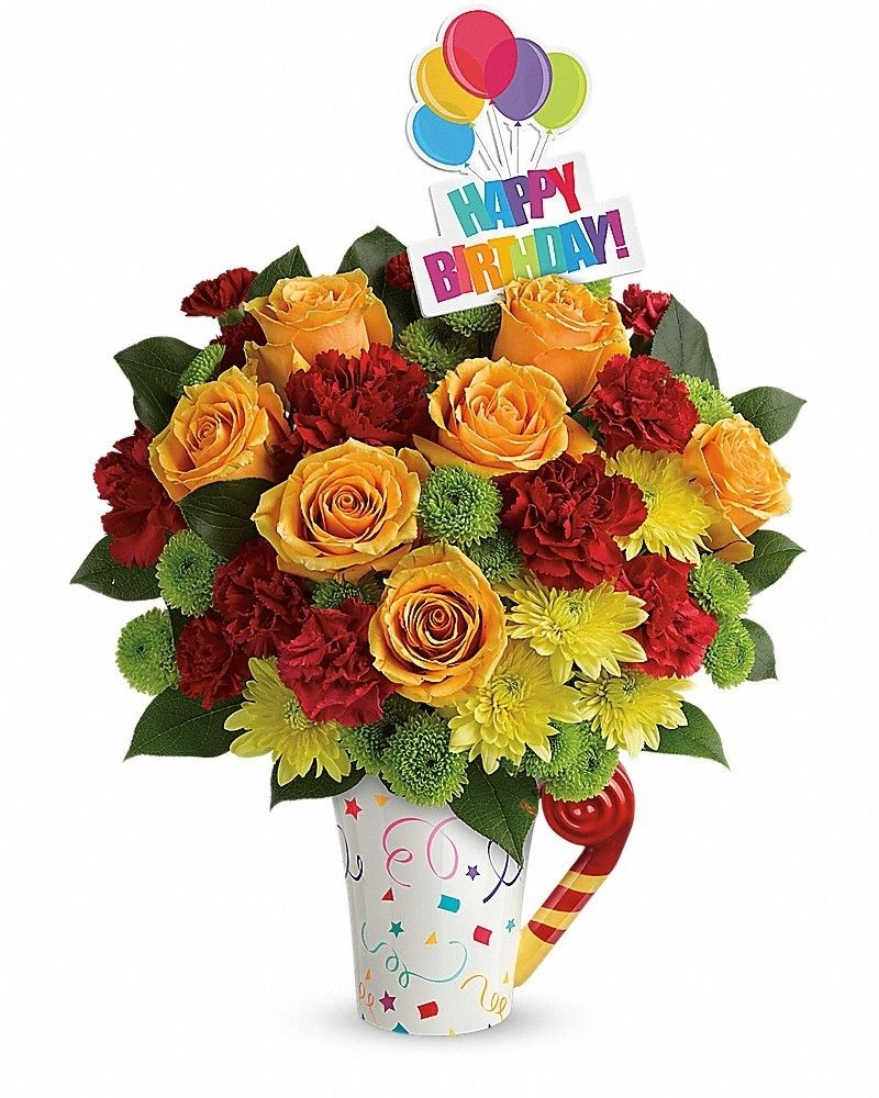Fun 'n Festive Bouquet Flower delivery, Get well flowers