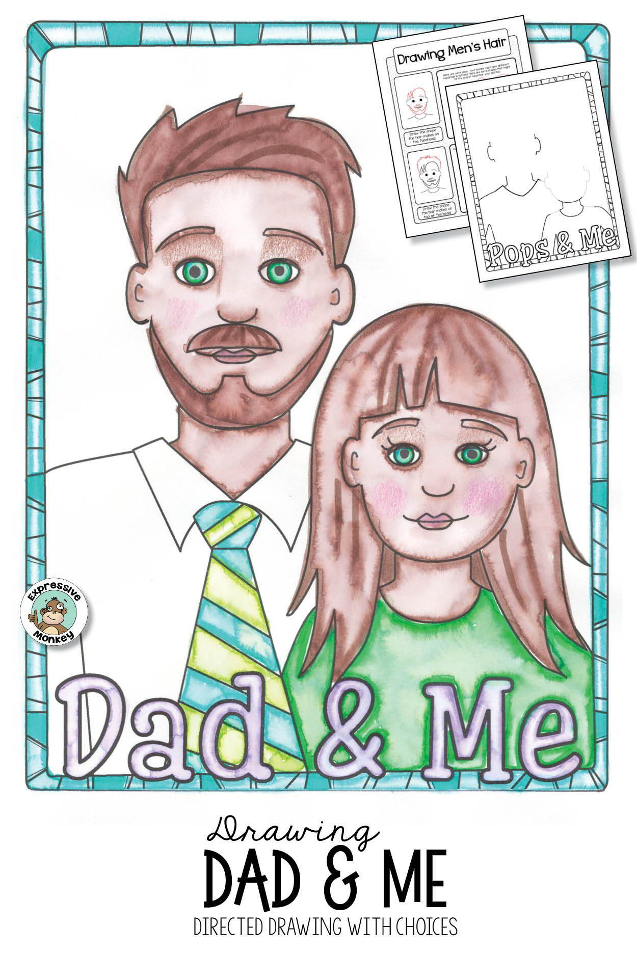 Father S Day Card Drawing Dad Amp Me