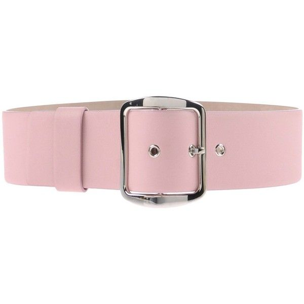 Wide leather belt for ladies Pink leather belt