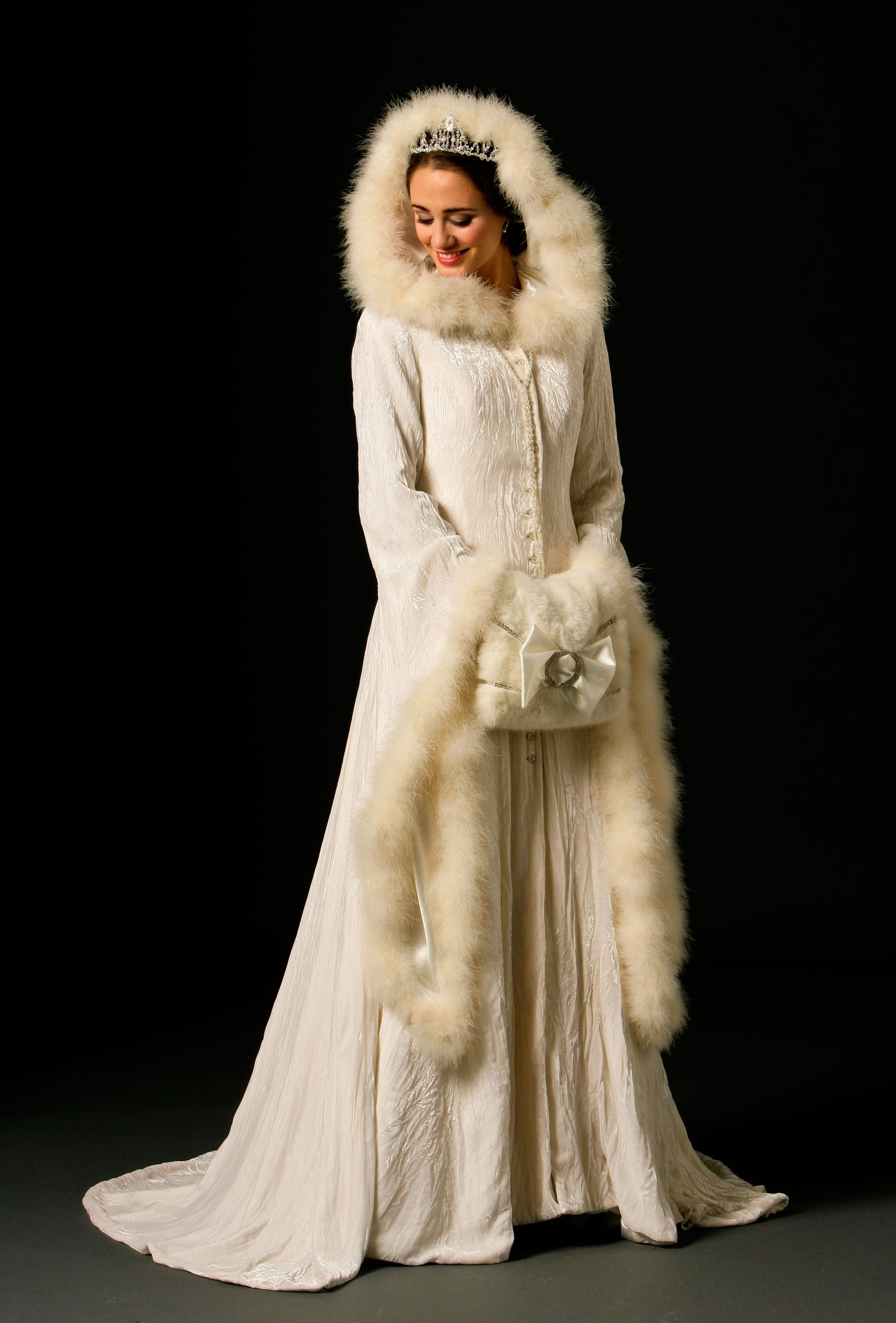 Genevieve Winter wedding dress, Wedding coat, Winter