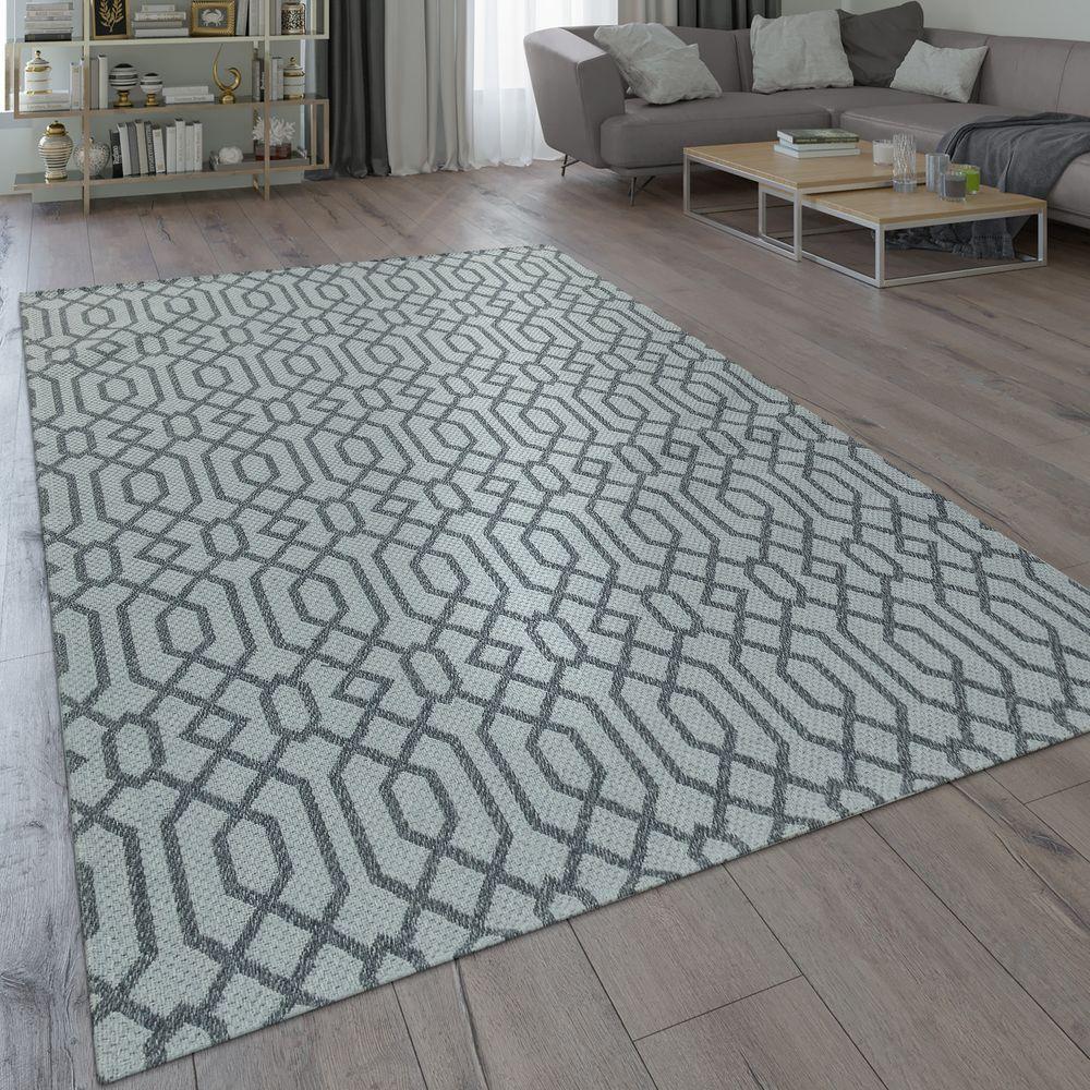 Teppich Skandi Design Flecht Muster Grau Teppich Grau Teppich Teppich Kuche
