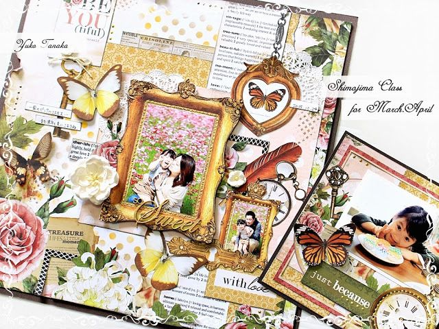 Layout & card, I think with Kaisercraft's Treasured Moments collection