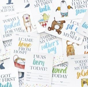 Baby milestone cards. I got these gifted to me and love them. Check out a review on this blog- love it!
