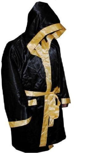 Details About New Men Hooded Satin Boxing Robe Muay Thai Boxing