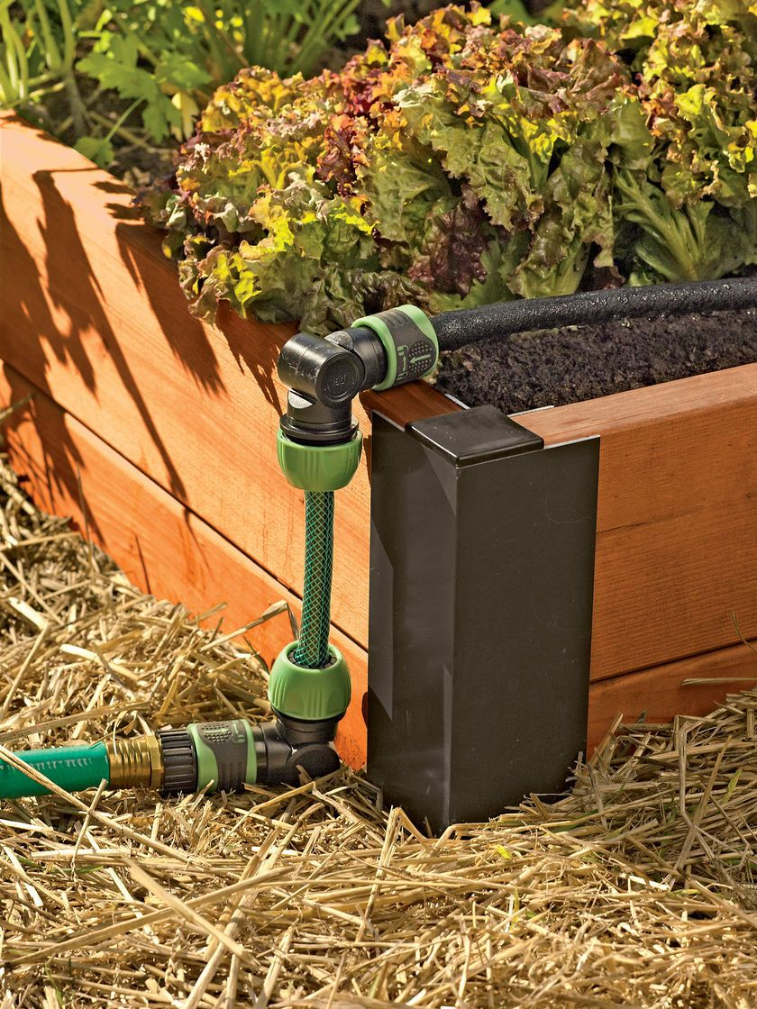 Snip N Drip Custom Irrigation System | Drip irrigation, Raised bed ...