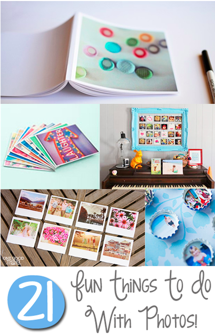 Don't let your holiday photos languish on your hard drive! Check out these 21 Fun Things To Do With Photos! | One Good Thing By Jillee