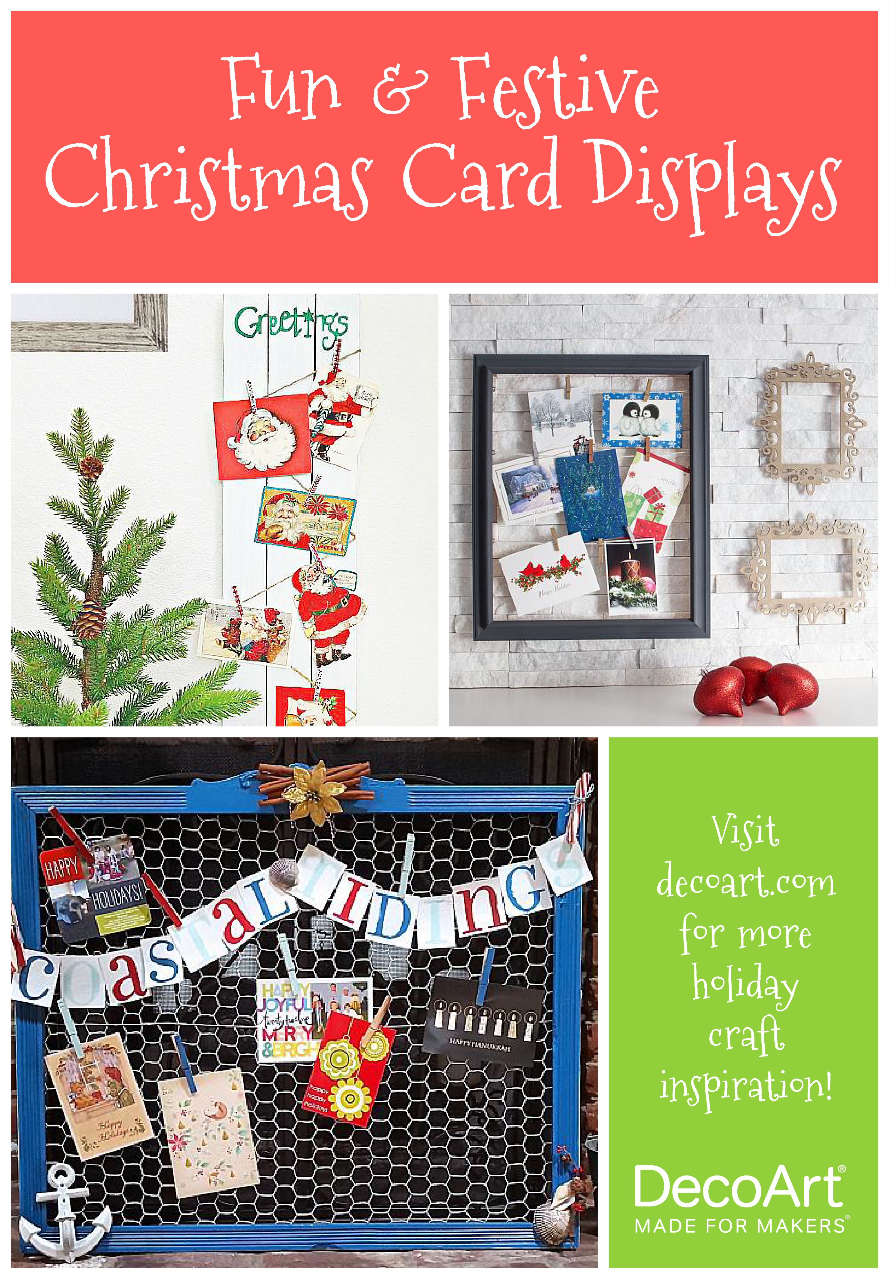 find creative ways to display your cards on the decoart