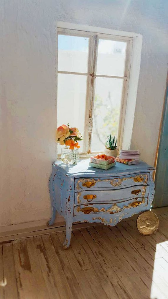Louis xv provence commode bombe dollhouse miniature furniture inch scal also beautiful way to transform  dresser using transfer with leah rh pinterest