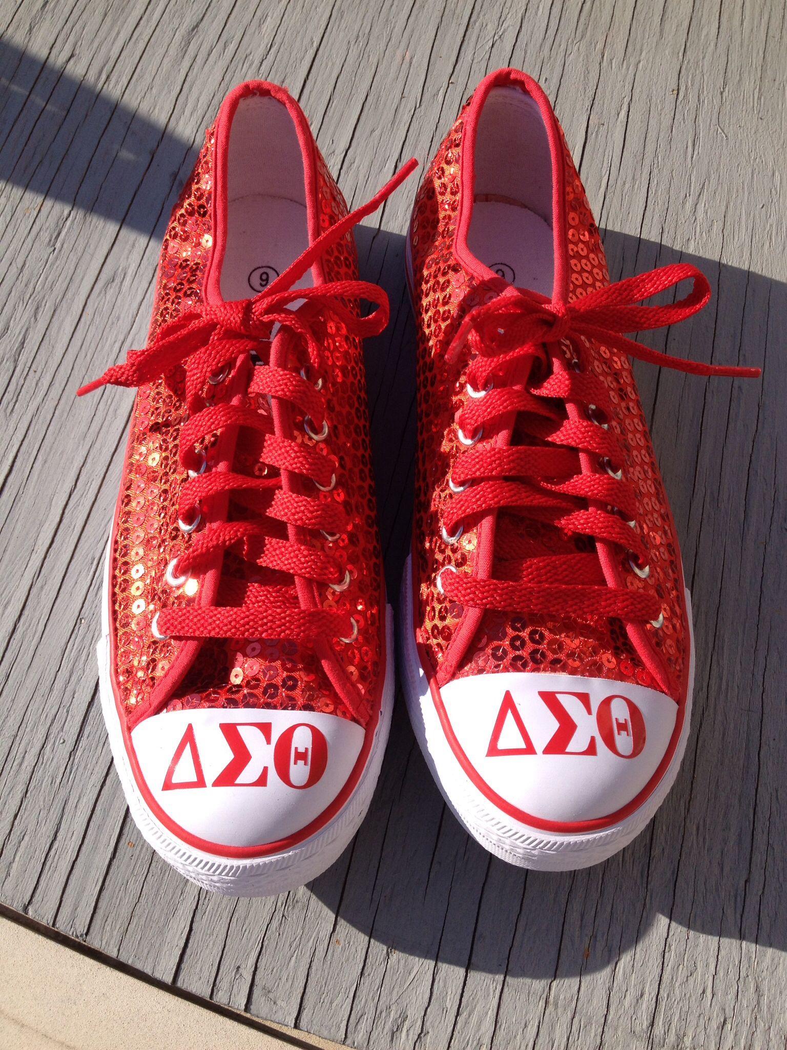 91f7f7fcbe2d71 Delta Sigma Theta Sequin Sneakers