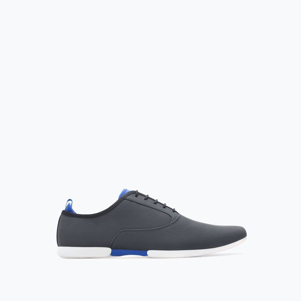 Zara Collection Ss15 Slim Lace Up Shoes Mens Vegan Sepatu Casual Pria B2 Fabric