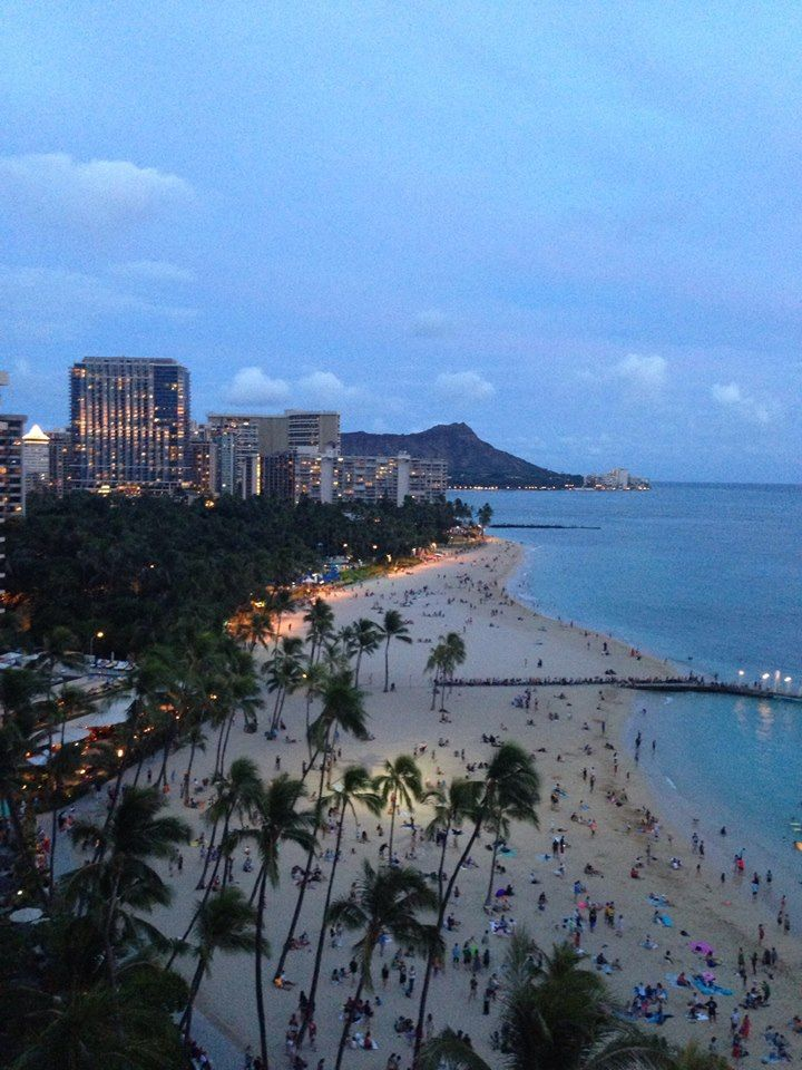 Waikiki Beach from Hilton Hawaiian Village