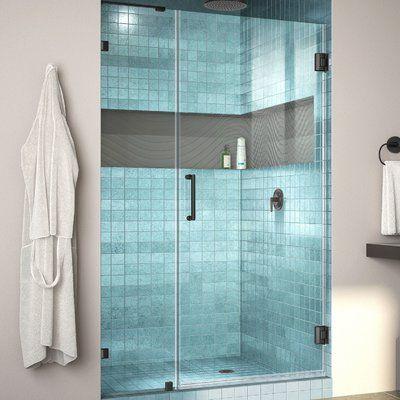 Dreamline Unidoor Lux 51 X 72 Hinged Frameless Shower Door With