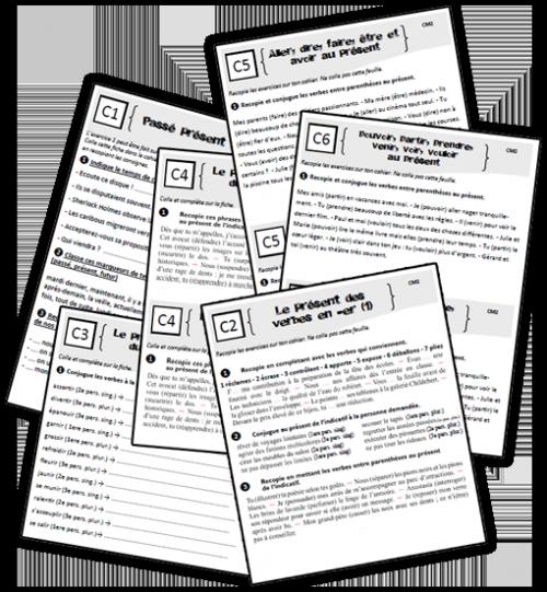 Conjugaison cm2 exercices primaire grammaire et - Conjugaison cm2 a imprimer ...