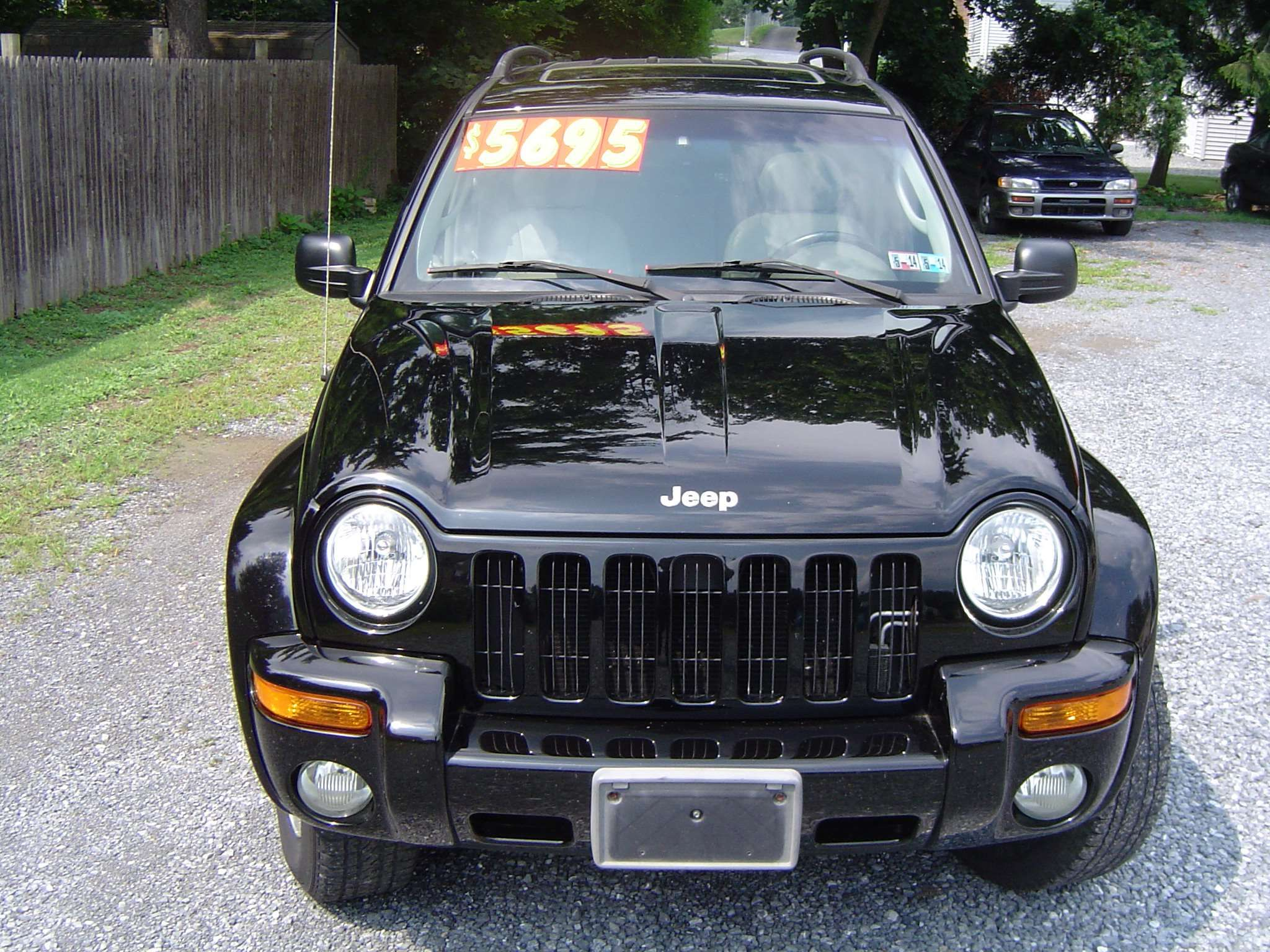 Make jeep model liberty year 2002 body style suv exterior color black interior color gray doors four door vehicle condition very good price 5 695