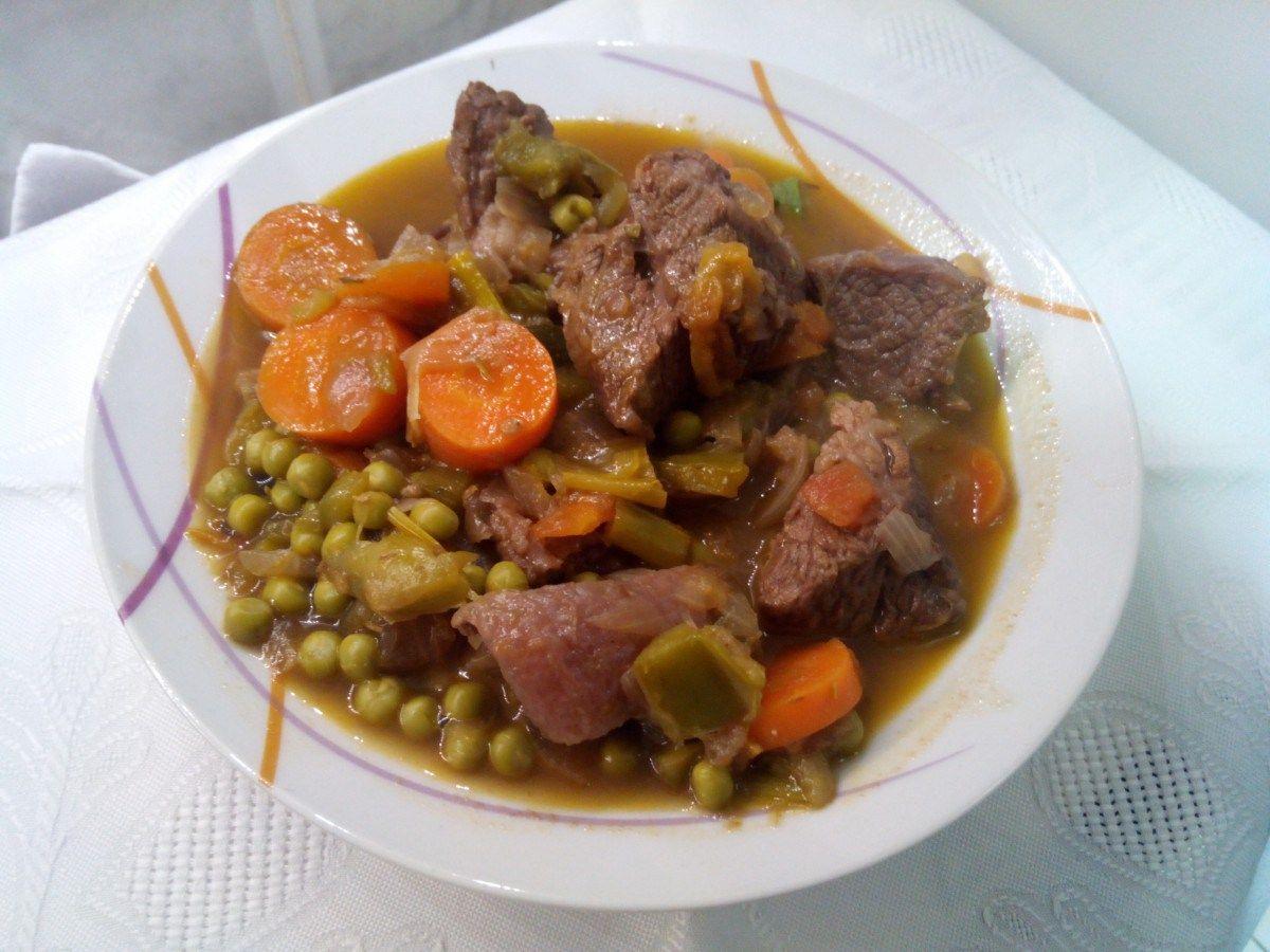 Carne Estofada con verduras