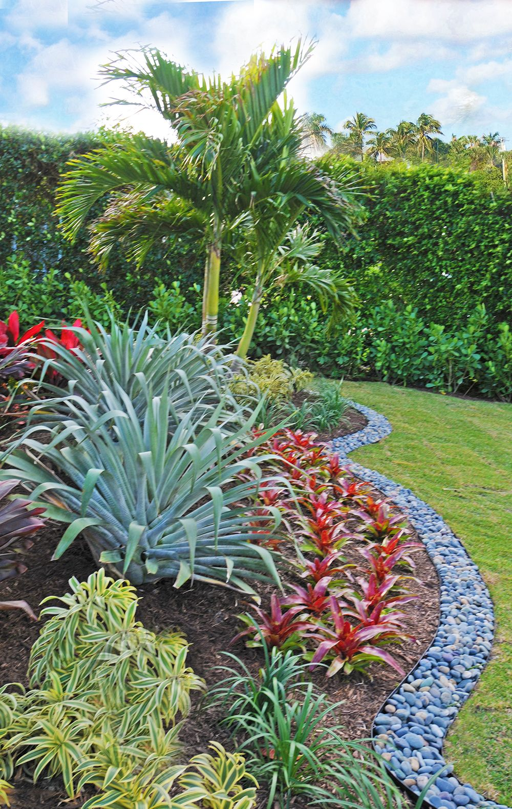 Accented by bromeliads. By Pamela Crawford. Her services ... on Backyard Beach Landscape Design id=57497