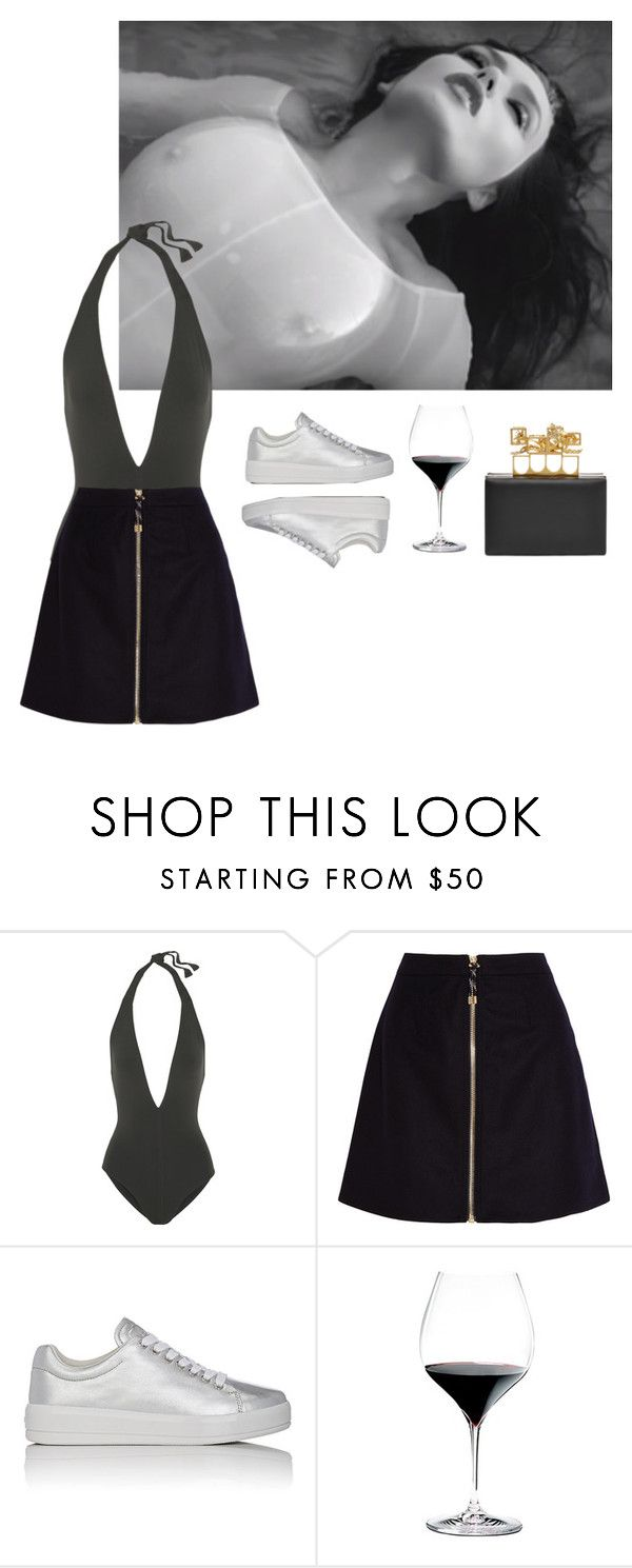 """""""GFD"""" by asmin ❤ liked on Polyvore featuring Eres, Acne Studios, Prada Sport, Riedel and Alexander McQueen"""