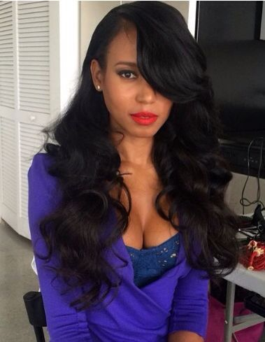 Wavy Hair With Deep Side Part Xoxo Weave Crush