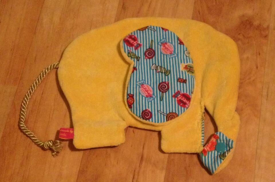 Knisterohr Elefant mit Schnullerhalter