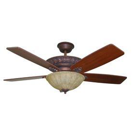 Harbor Breeze 52 In Lori Old World Bronze Ceiling Fan With Light Kit Ceiling Fan With Light Ceiling Fan Ceiling Fan Globes