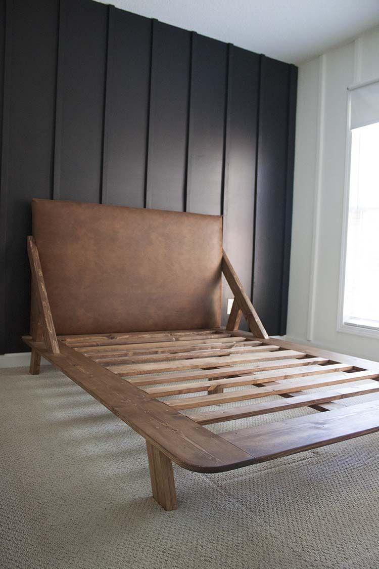 Mid Century Modern Diy Platform Bed Dreamhomepop Com Hem Bed Century Diy Dreamhomepopcomhem In 2020 Platform Bed Designs Modern Bed Frame Modern Bedroom Furniture