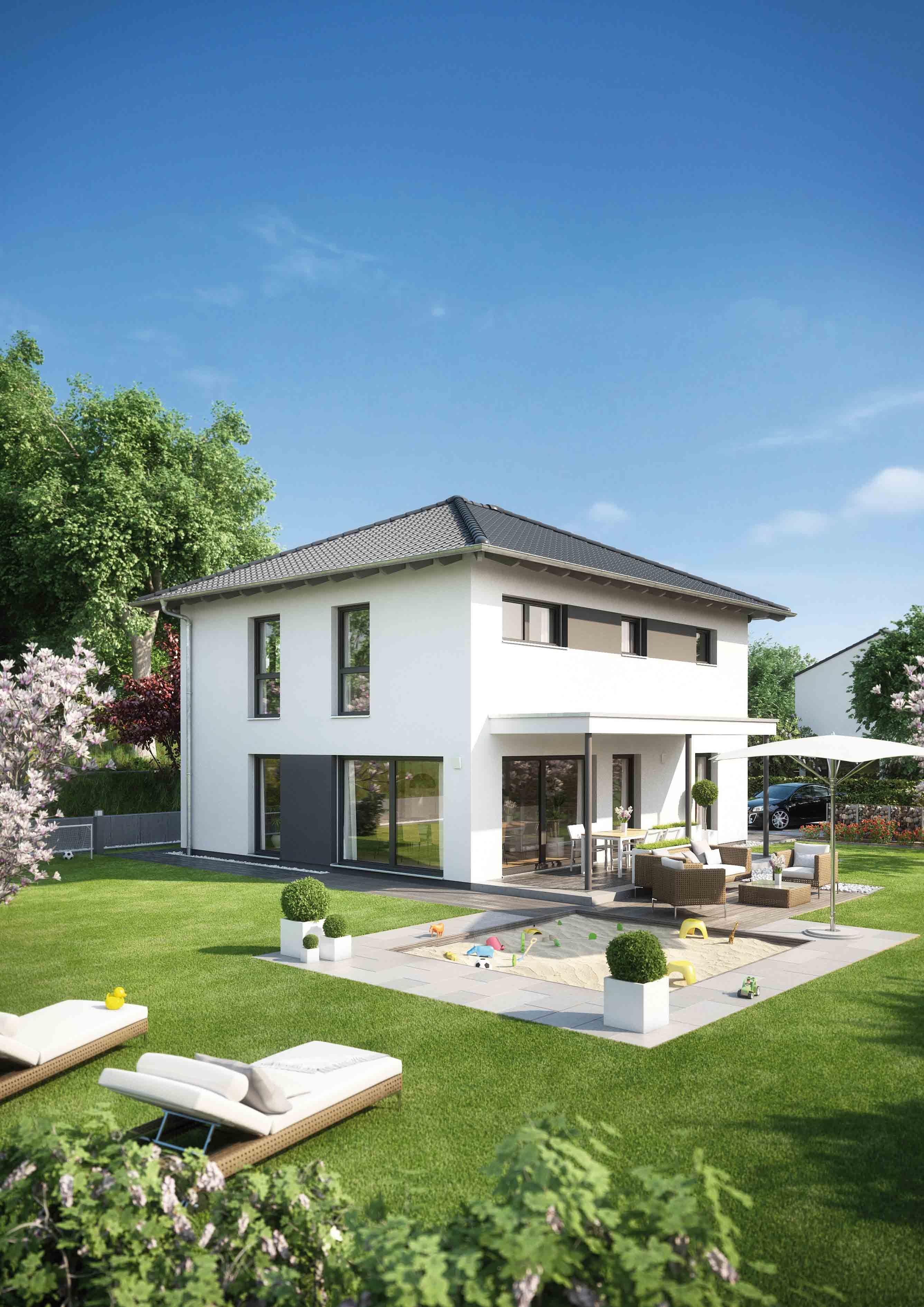 Fertighaus Medley 3 0 200 B Mit Walmdach Von Fingerhaus Haus Haus Bauen Walmdach