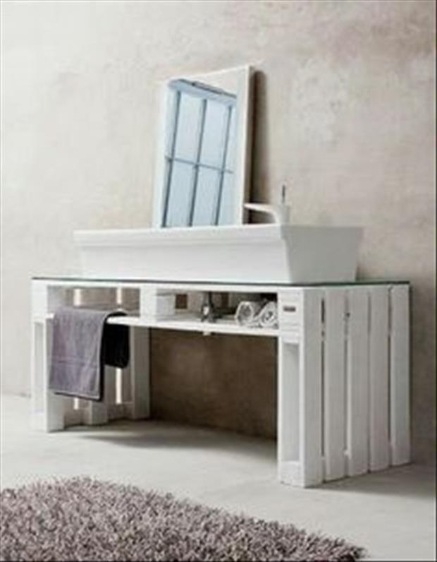 support de vasque en palettes | DECO { Salle de bain } | Salle de ...