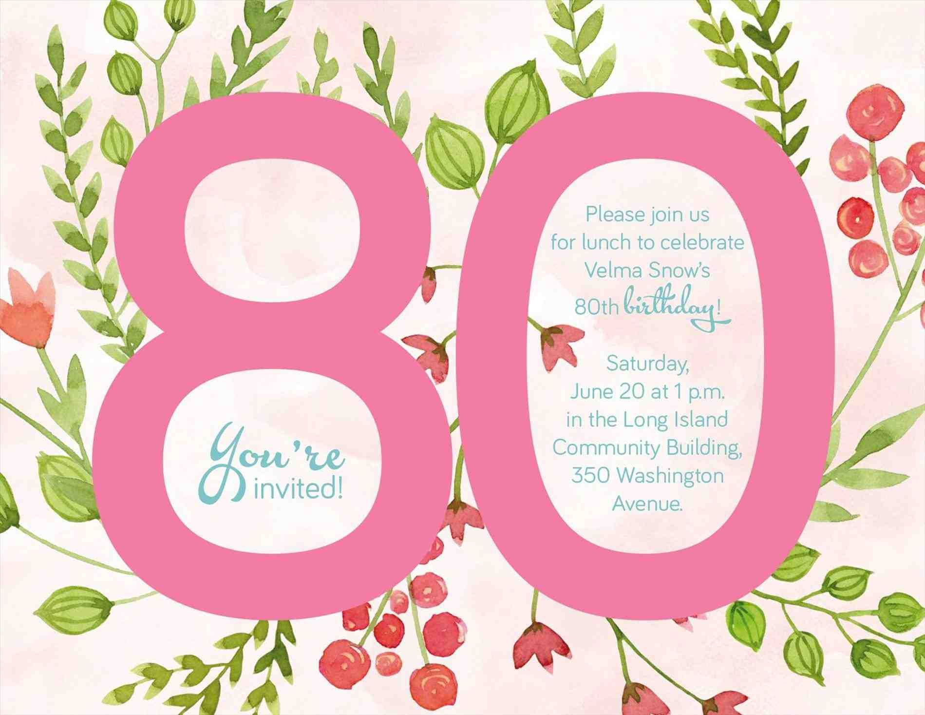 More Article From Th Birthday Party Invitations Templates Th - 80th birthday party invitations templates