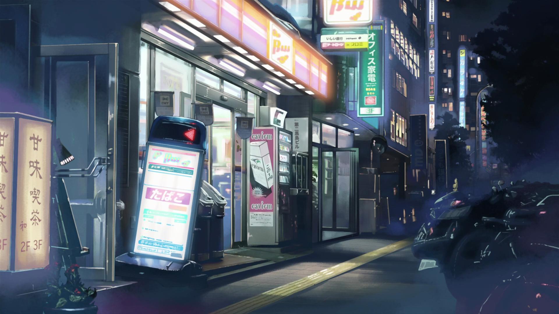 japan streets makoto shinkai 5 centimeters per second shop