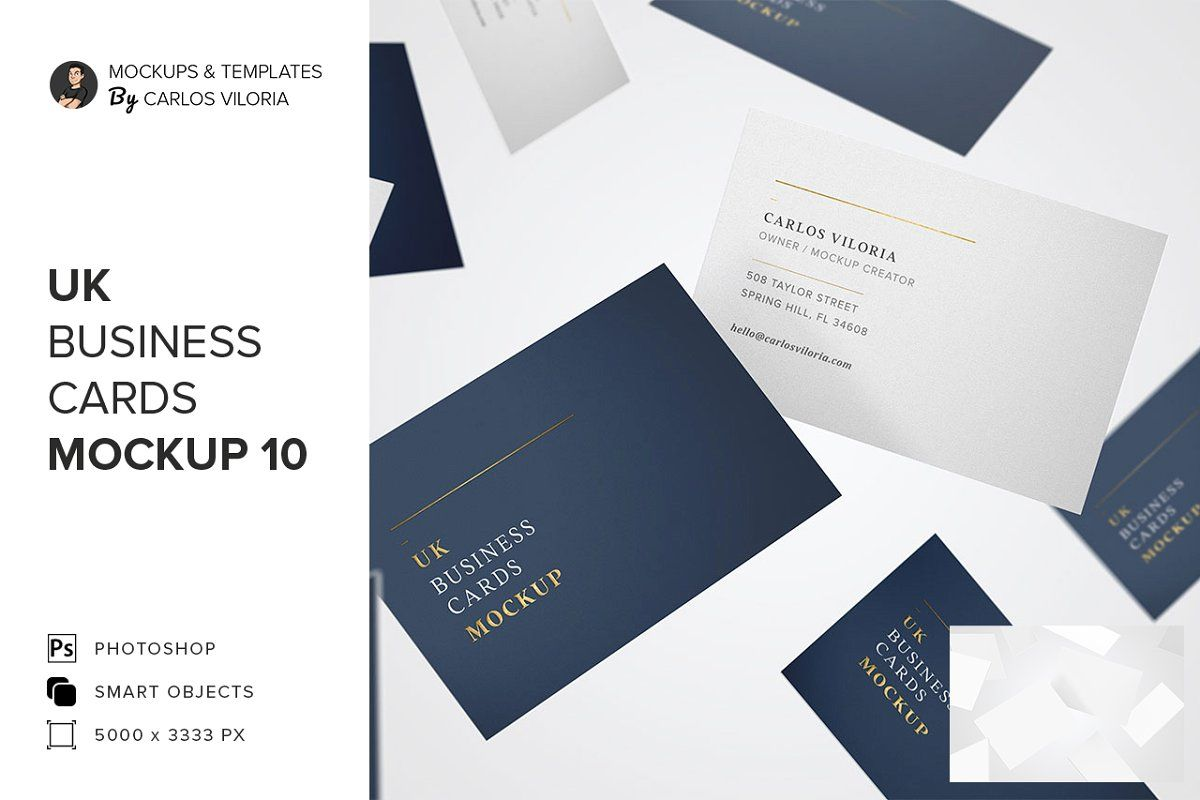 Uk Business Cards Mockups Business Card Mock Up Stationery Mockup Business Cards Uk