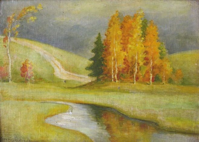 Paysage d'automne by Petr Savitch Outkine