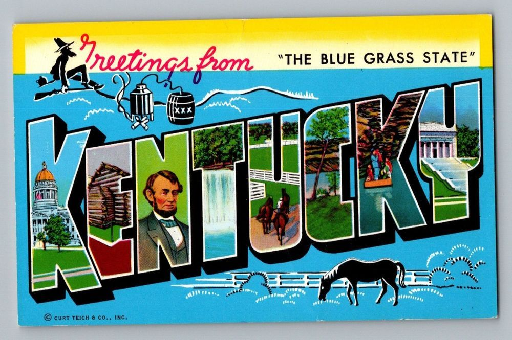 Greetings From Kentucky KY Large Letter Vintage