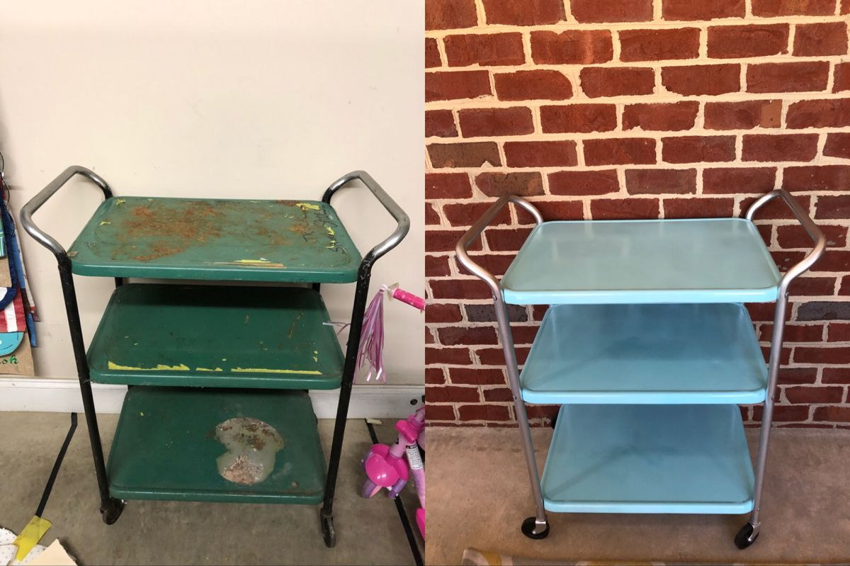 Refinished Vintage Cosco Utility Cart