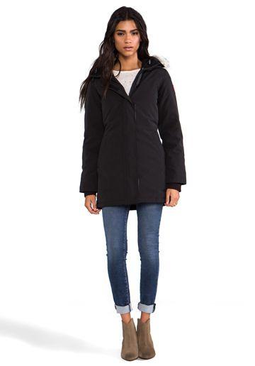 CANADA GOOSE Victoria Parka in Black Jackets & Coats