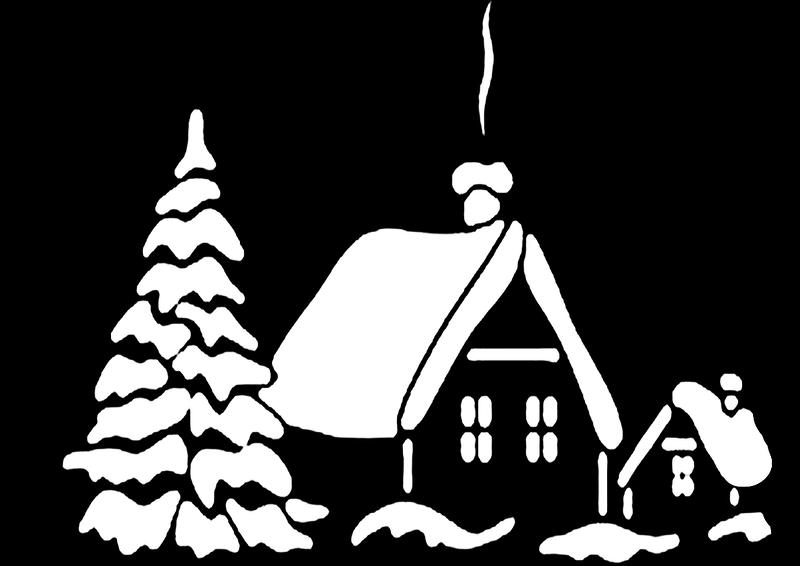 главную новогодние дома картинки трафареты большее