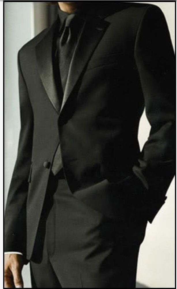 all black tuxedo wedding - Google Search | Men Properly Fashioned ...