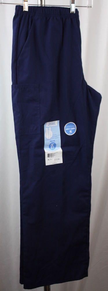 SB Scrubs Unisex Soft Finish Poplin Pull On Pant Navy Size XL NWT #SimplyBasic