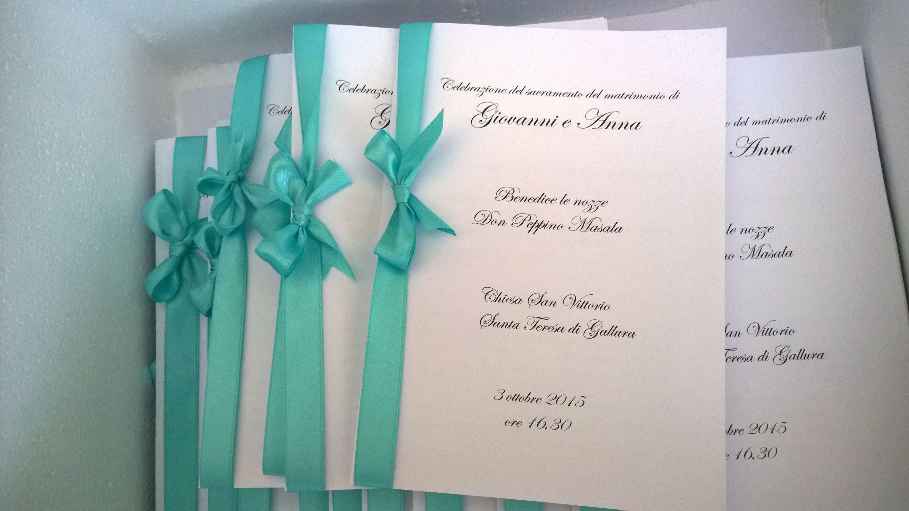 Libretti Messa Matrimonio Tiffany Idee Per Matrimoni Matrimonio