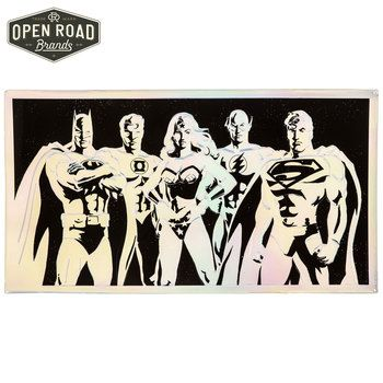 Justice League Prismatic Metal Wall Decor Open Road Brands