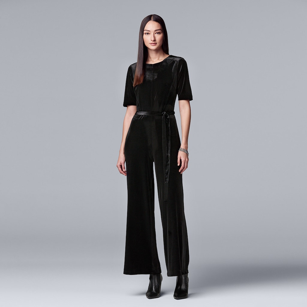 57b75174725 Women s Simply Vera Vera Wang Wide-Leg Velvet Jumpsuit
