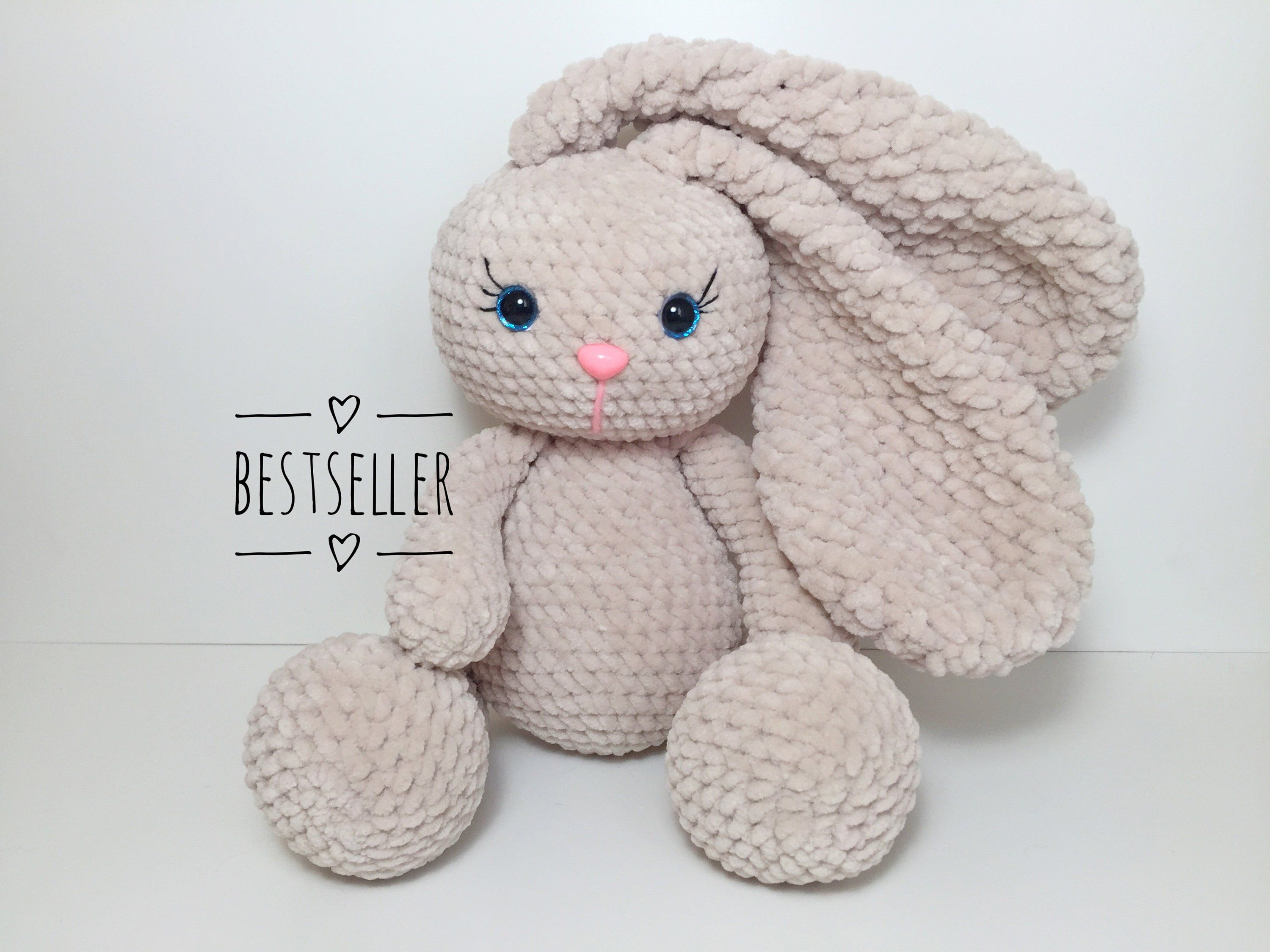 Lovely amigurumi crochet bunny, a personalized toy for newborn ... | 2250x3000