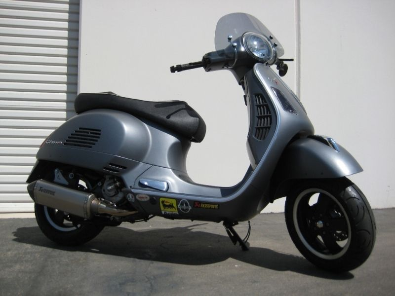 Modern Vespa Teaser Akrapovic Exhaust On Matte Grey
