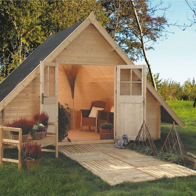 Abri de jardin bois, pvc, toit plat | Abri de jardin bois, Toit plat ...