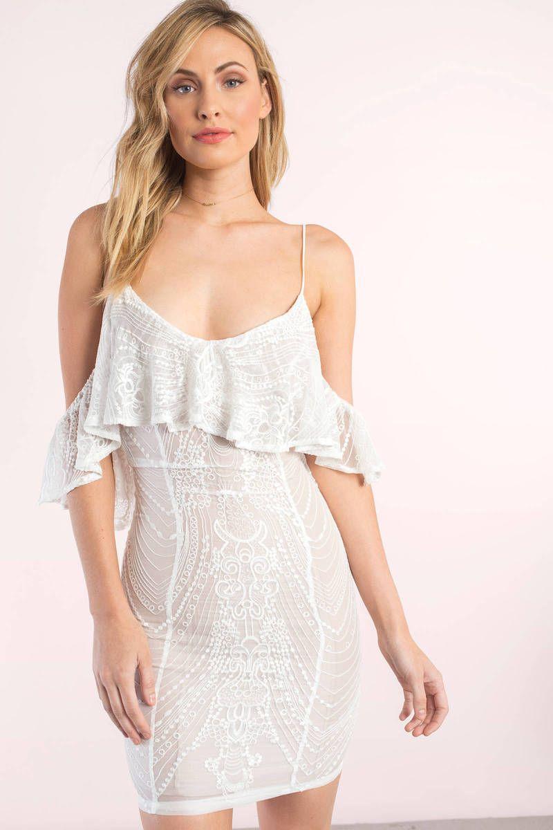 Kleid Weiß Elegante Partykleid Kurz | Elegante abendkleider, Schöne ...