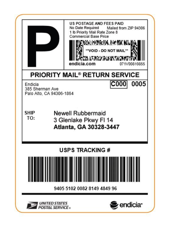 Free Address Labels Samples Usps To Lower Rates And Endicia Announces Payonuse Return Labels .
