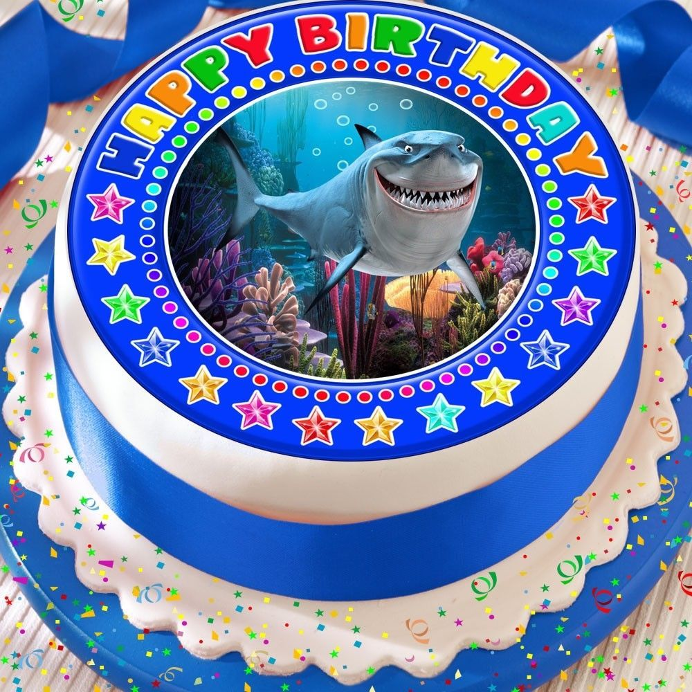Finding nemo bruce shark precut edible birthday cake