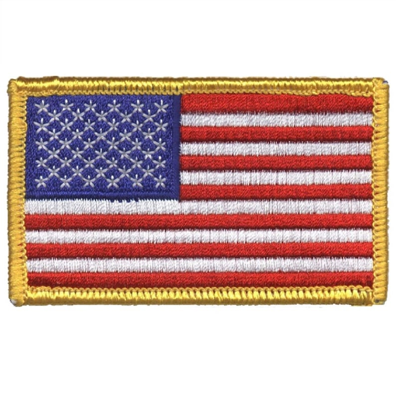 American Flag Patch United States Of America Usa Etsy American Flag Patch Flag Patches American Flag