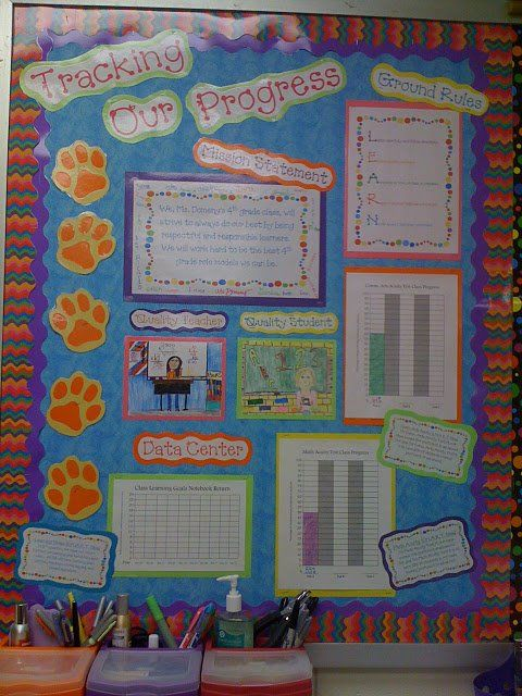 Goals Progress Tracking And Achievement Bulletin Boards And